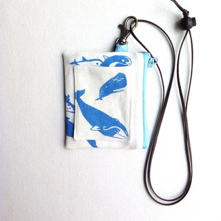 Design No.WD187 - 【Cetacea Pattern】Card Holder Purses