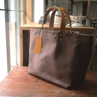 Big Wax Bag - Brown Paraffin Canvas Tote Bag