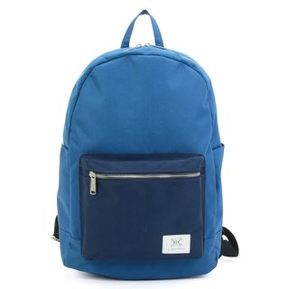 LaPoche Secrete: Travel Girl_Lightweight Canvas Backpack_Blue Pocket
