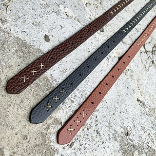 Hand threading design - vegetable tanned cowhide / 2cm thin women's belt / belt / belt / handmade leather