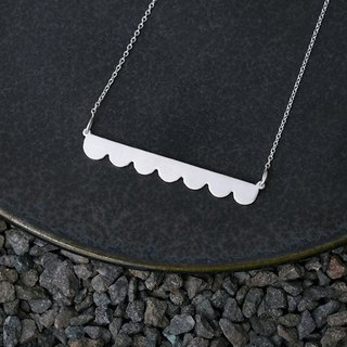 Misstache N.7 Miss Beard No. 7 Sterling Silver Necklace Silver Necklace