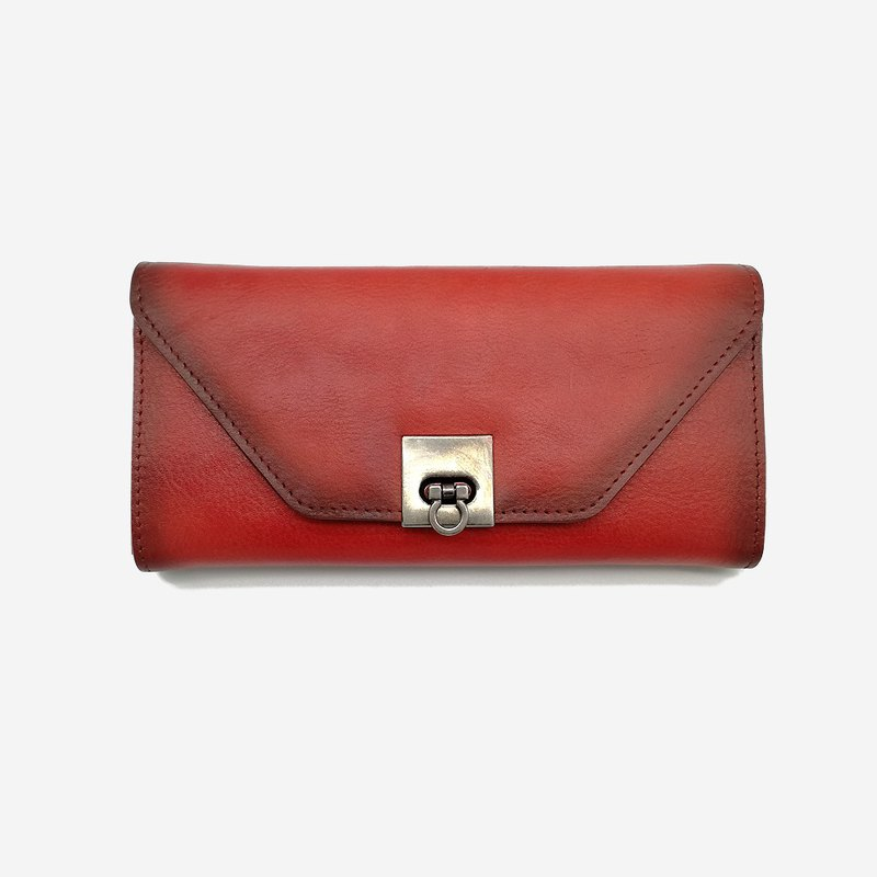 [Valentine's Day] ladies leather long clip wallet clutch bag card banknote change storage bag