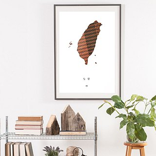 Taiwan city Map poster | Handmade design | Cassette tapes weaving | Original