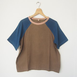 no.1 Baseball shirt L / natural dye