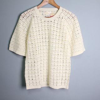 FOAK vintage Japanese stock new shell crochet top