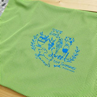 Green ice cream dog cool cloth cover (requires use with cool pad)