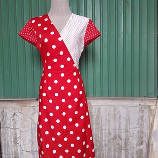 Mix polka dot dress  *one piece