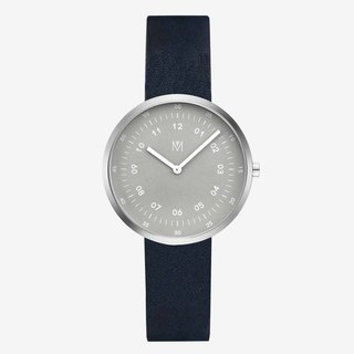 Smoke Green 34mm navy blue Italian belt Swiss movement Sapphire glass flower polished stainless steel Hong Kong MAVEN watch