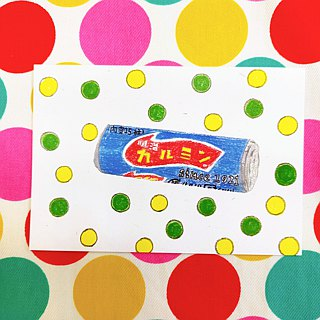 Showa Toys Hand-painted Postcard - Peppermint Candy