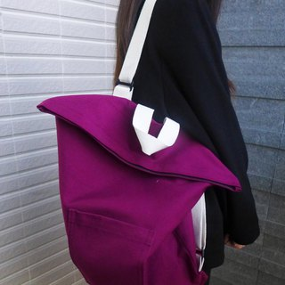 Shoulder back. Portable three in one canvas bag