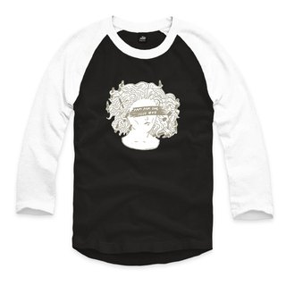 Pencil tusa - gray - black / white - seven-point baseball T-shirt