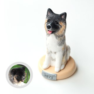 Custom Dog Figurine, 3D Custom dog portraits, Dog statue, Dog dollhouse