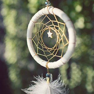 Dream Catcher 8cm - Stars Gold - Christmas Gifts, Birthday Gifts, Exchange Gifts