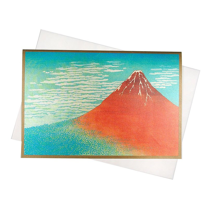 夕陽富士山珍珠和紙【Hallmark-卡片 經典和風/多用途】
