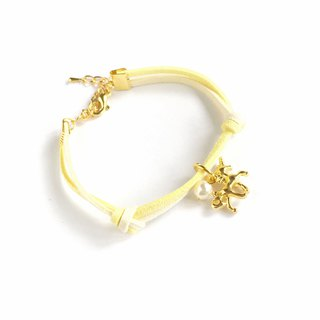 Handmade Simple Stylish Unicorn Bracelets Gold Series–yellow