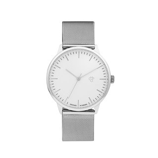 Swedish brand - Nando silver and silver dial - Silver Milan with adjustable watch