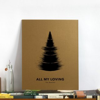 Tree Audio Decorative Painting - Birthday Christmas Gift - 11x14""