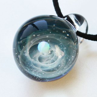 You are the only star. ver2 White Version Glass Pendant Universe