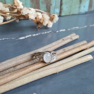 Elegant Moonstone Silver Ring