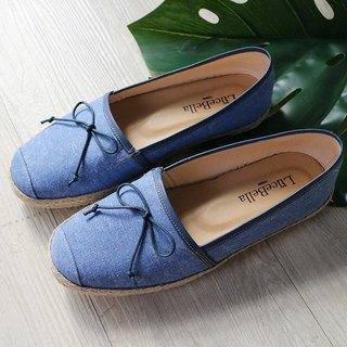 【Possibility of Anti-snoring】 Denim Straw Shoes - Denim Blue