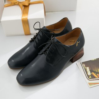Hera-Brand Blue - Handmade Leather Derby Shoes