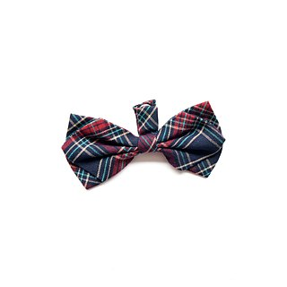 Handmade Tartan Pet Dog Collar Accessory - Bowtie - Scotland Green 【ZAZAZOO】