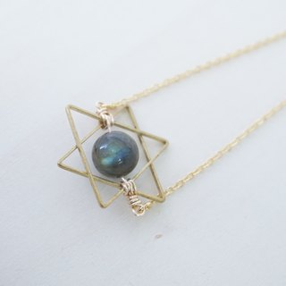 Starry Night Labradorite Start Necklace
