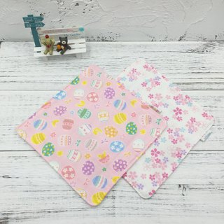 G02-soft soft gauze handkerchief (six-layer gauze) double-sided pattern Easter egg & cherry blossom