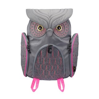 Morn Creations Genuine Classic Owl Backpack L-Gray (OW-311-GY)