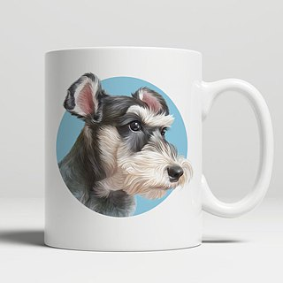 Customized characters, pet portrait classic flat mouth mug (small fresh style)