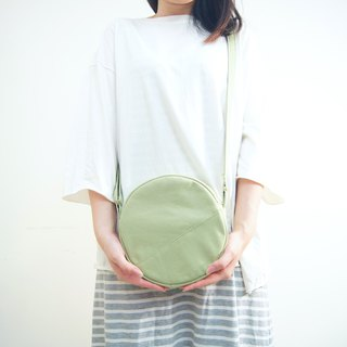 Forest Department Matcha three brothers' small round bag - light green