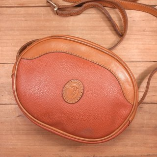 Old bone Trussardi side round small round bag Vintage