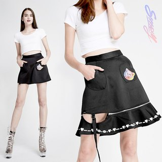 SSSSEXY Two Slings Wave Skirt
