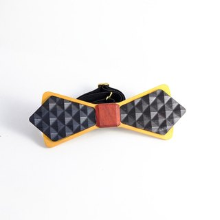 Wooden natural wood tie tie 3D WOOD TIE Millimeter feel the texture of hand-made black diamond