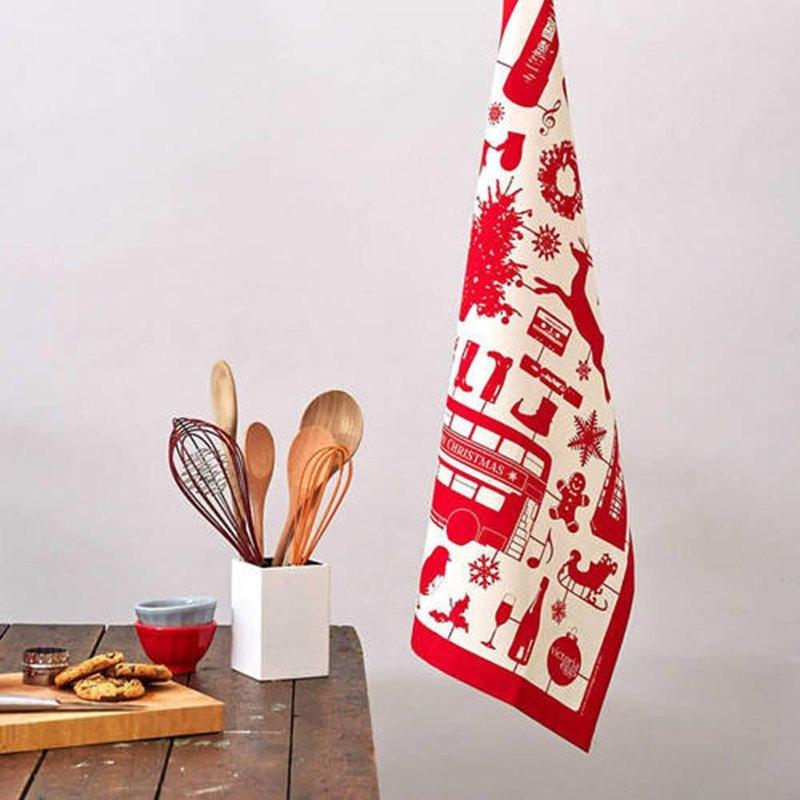 英國蛋 純棉碗盤擦布 模型耶誕節