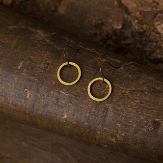 Circular 迴圈 耳鉤 黃銅耳環 Brass Dangle Earrings