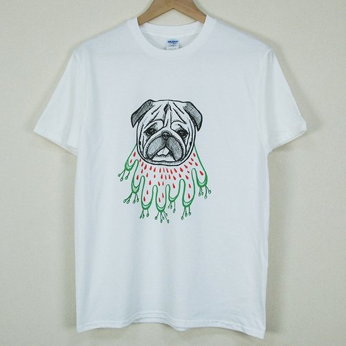 "New designer-T-shirt: [grass skirt barge] short-sleeved T-shirt ""neutral / self-cultivation"" (white) - Chen Mengru"
