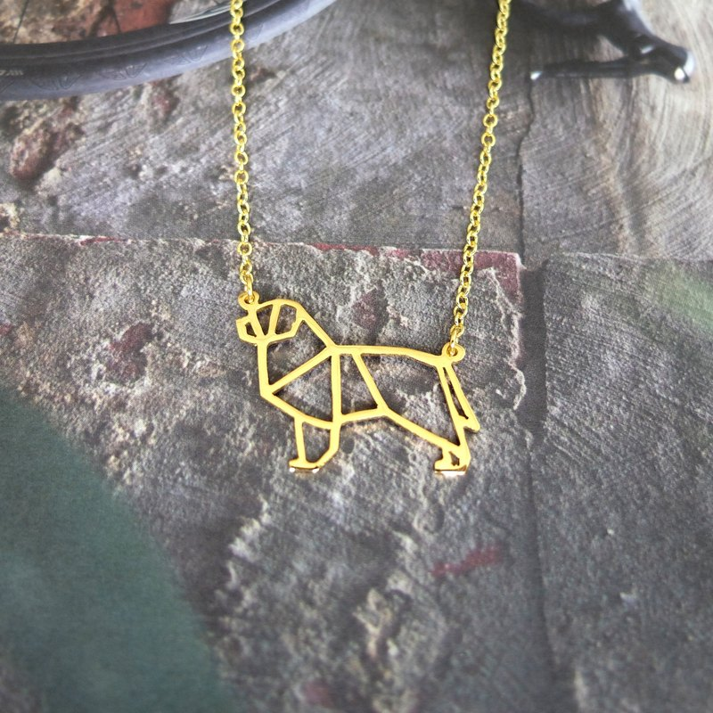 Newfoundland, Dog Necklace, Origami Necklace, Dog Lover, Dog gifts, Gift for her