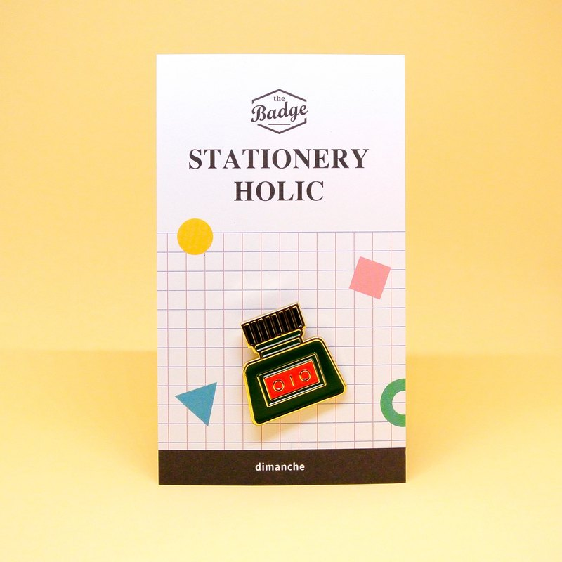 Dimeng Qi - Stationery control badge [Ink / Green]