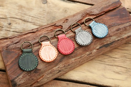 Handstitched Round Key Chain, Monogram Key Chain