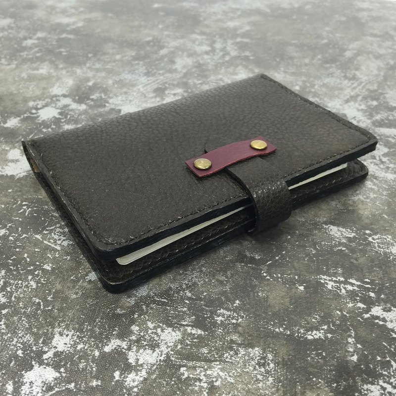 Passport brown leather black leather passport holder Milled
