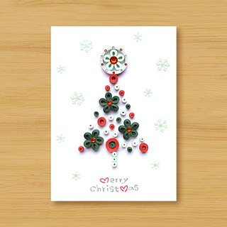 Hand-rolled paper stereo card _ Snow Country Christmas Tree _B ..... Christmas Card
