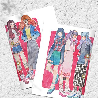 Girls stickers book (large) 1 into