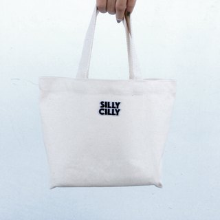 SillyCilly Sharp Hilly Blank LOGO + zipper + inner bag canvas bag lightweight / convenient environmental