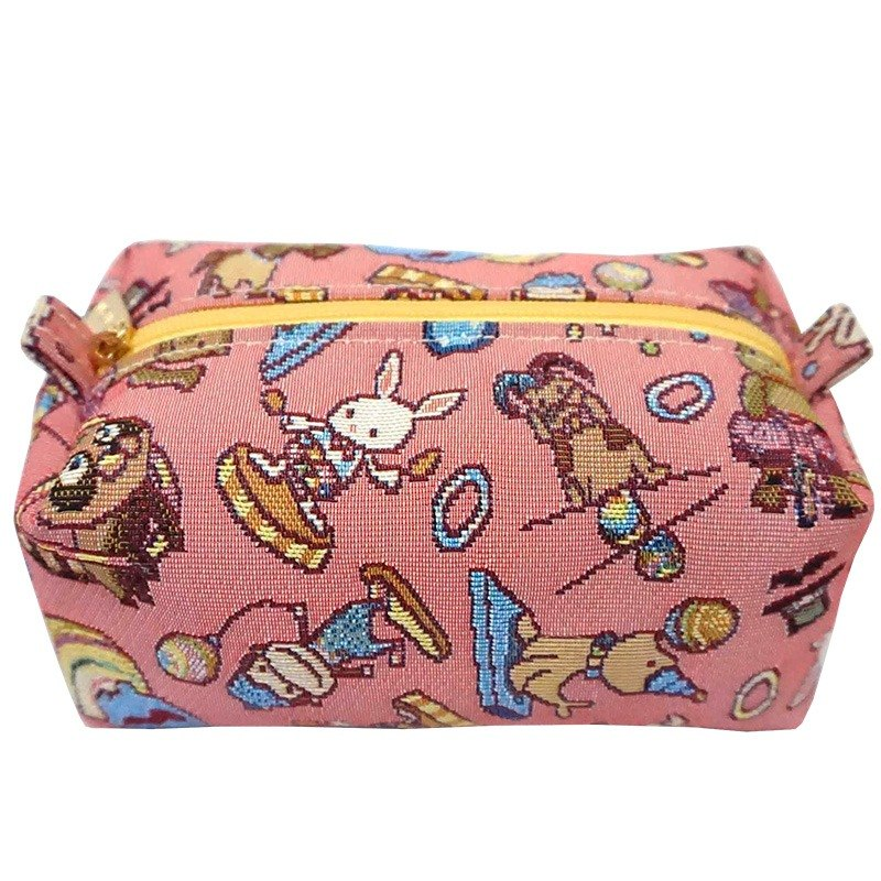 [Blogger Taiwan plum buns + Share subsection Germany] jacquard woven Videos cake package happy mini circus (Pink) Yellow