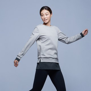 [MACACA] warm layer long sleeve T - BRE3333 gray / deep gray