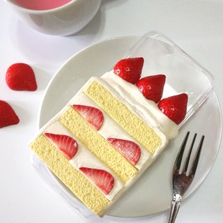 Strawberry Cream Cake iPhone6 ​​Plus Phone Case | Simulation Food Clay Phone Case