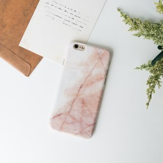 Hong Kong original brand Sell Good imitation marble texture glossy hard shell iPhone mobile phone shell - pink