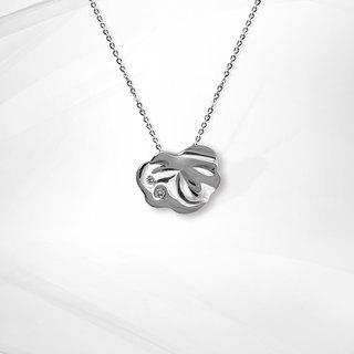 VOSHAS ZEN Collection [after rain] 925 sterling silver necklace