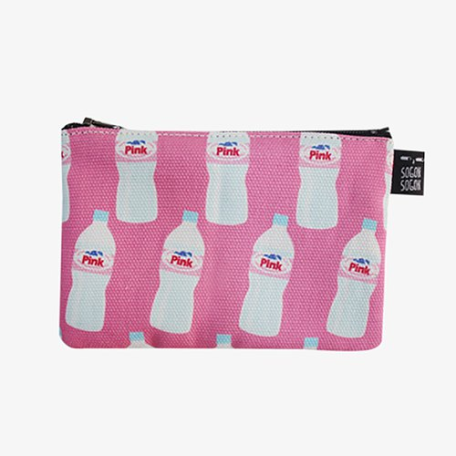 Pink water bottle purse / sogon sogon